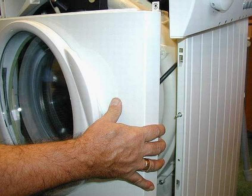 Как снять переднюю панель стиральной машины
