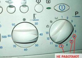 Работают не все режимы в стиральной машине Индезит