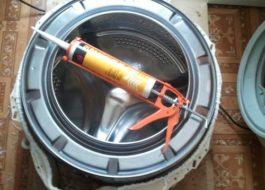 Чем склеить барабан стиральной машины Indesit?