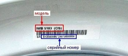 информация на наклейке Индезит