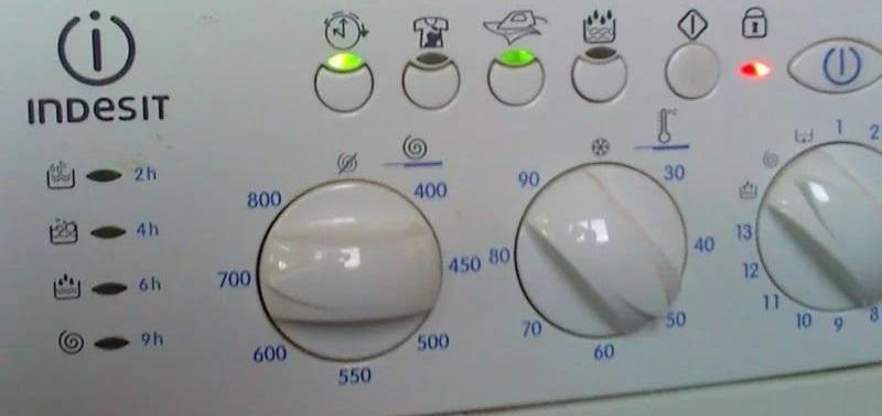 сбой в стиральной машине Индезит