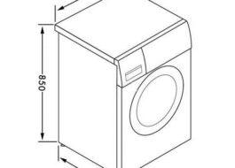 Габариты узкой стиральной машины Индезит