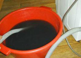 Как слить воду из стиральной машины Индезит?