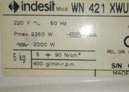 Мощность стиральной машины Индезит