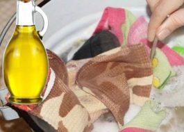 Как стирать кухонные полотенца с растительным маслом?
