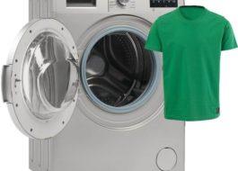 Стирка футболки в стиральной машине