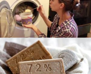 Стирка хозяйственным мылом в стиральной машине