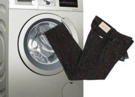 Стирка черных джинсов в стиральной машине