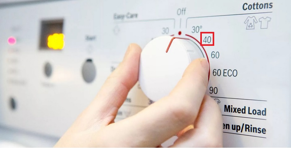 выставляем температуру на 40 градусов