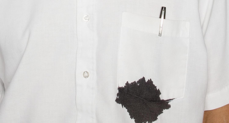 как убрать чернильные пятна с рубашки
