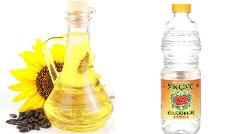 смесь масла и уксуса