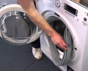 Как снять манжету с барабана стиральной машины Samsung?
