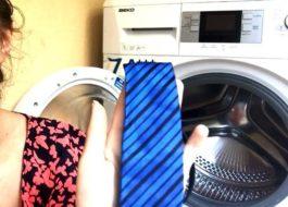 Стирка галстука в стиральной машине