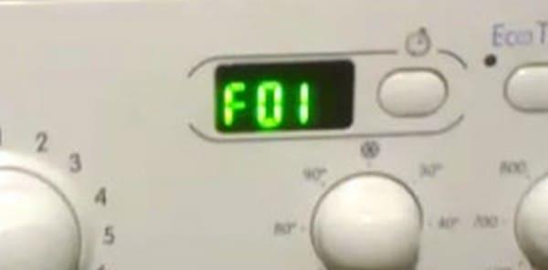 из-за ремня появляется ошибка f01
