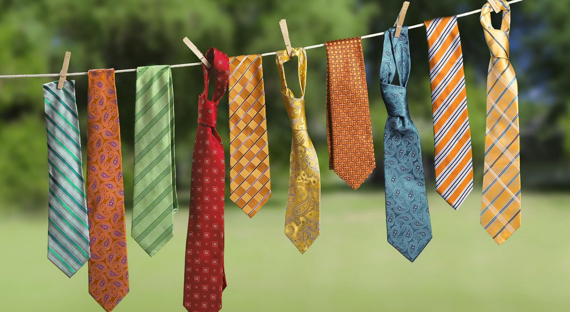 как сушить галстуки