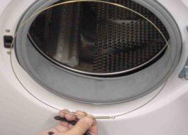 Снятие хомута на стиральной машине