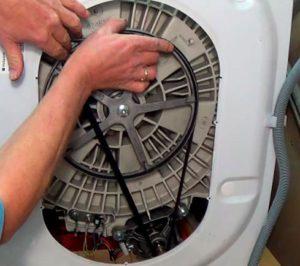 Как натянуть ремень на стиральной машине Бош?