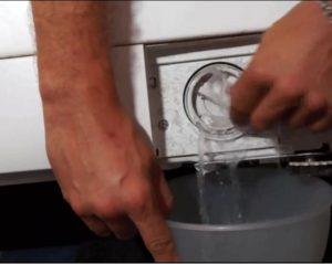 Как слить воду из стиральной машины Ariston