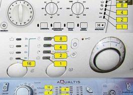 Коды ошибок стиральных машин Аристон без дисплея