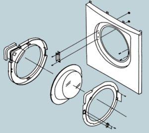 Разборка дверцы стиральной машины Бош