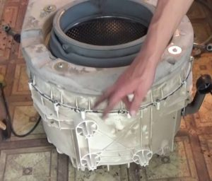 Как снять барабан в стиральной машине Атлант?