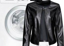 Можно ли стирать куртку из кожзама в стиральной машине?