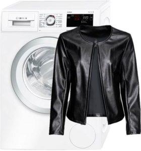 Можно ли стирать куртку из кожзама в стиральной машине