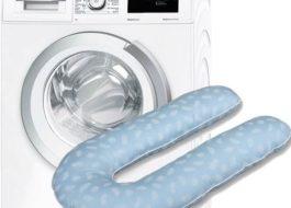 Можно ли стирать подушку для беременных с шариками в стиральной машине?