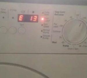 Ошибка E13 в стиральной машине Бош