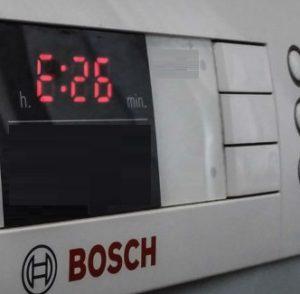 Ошибка E26 в стиральной машине Бош