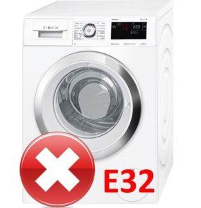 Ошибка E32 в стиральной машине Бош