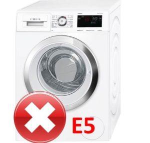 Ошибка E5 в стиральной машине Бош