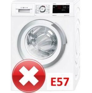 Ошибка E57 в стиральной машине Бош