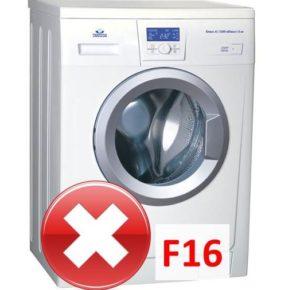 Ошибка F16 в стиральной машине Атлант