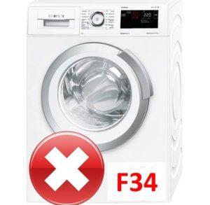 Ошибка F34 в стиральной машине Бош