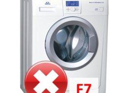 Ошибка F7 в стиральной машине Атлант