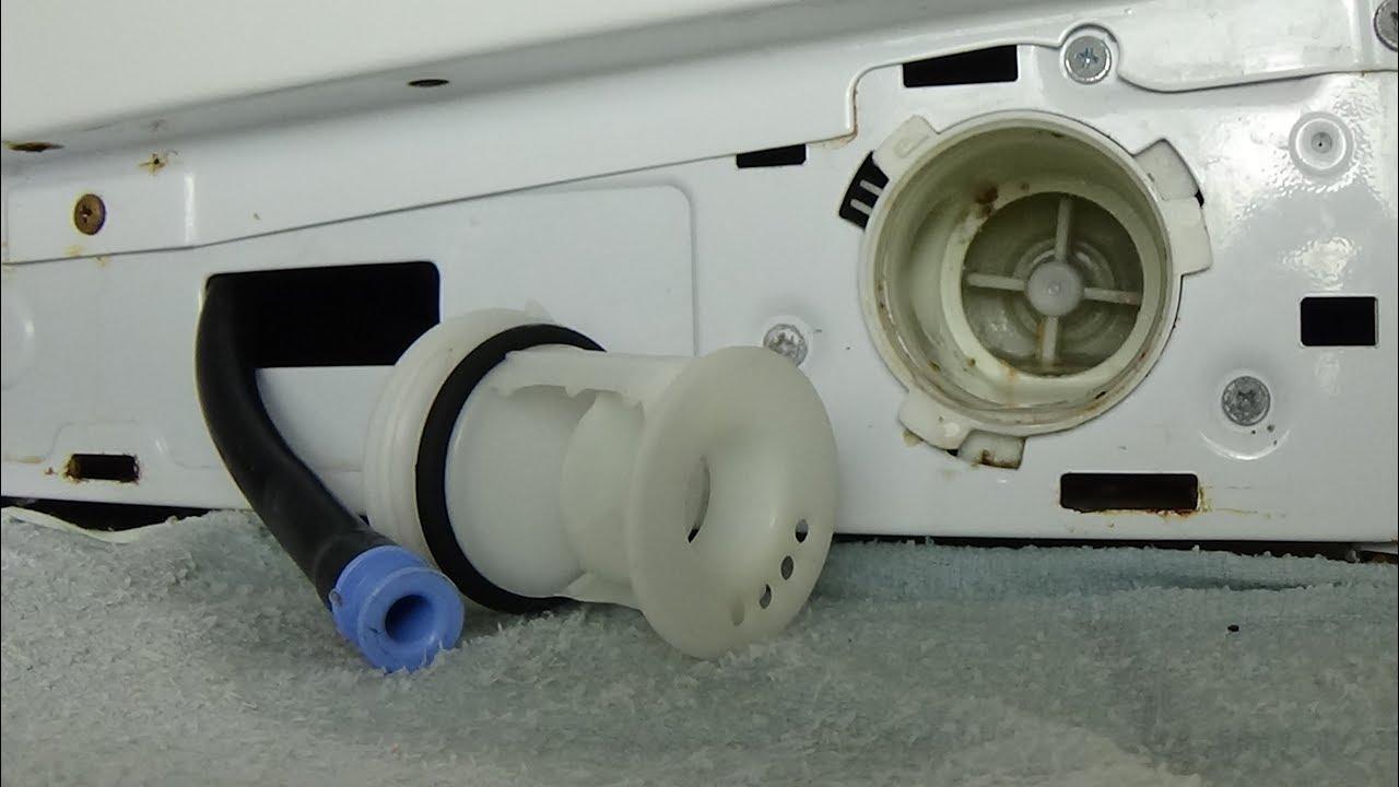 удаляем воду через фильтр