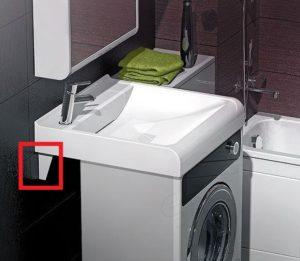 Как крепится раковина над стиральной машиной?
