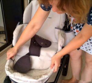 Разборка коляски для стирки