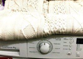 Стирка кардигана в стиральной машине