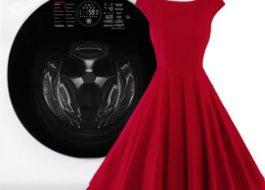 Стирка платья в стиральной машинке