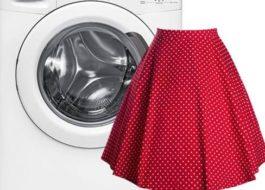 Стирка юбки в стиральной машине