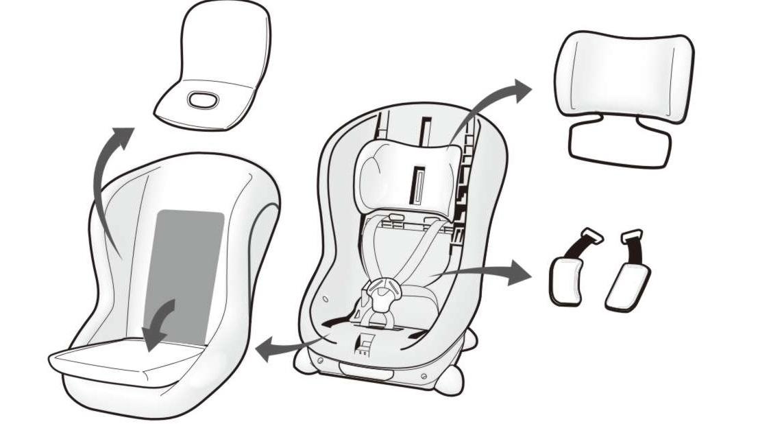 демонтаж основных элементов кресла