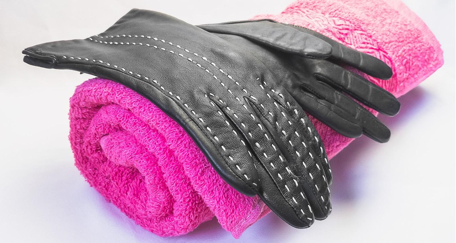 как сушить кожаные перчатки