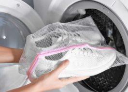 Стирка белых кроссовок в стиральной машине