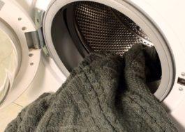 Стирка акрилового свитера в стиральной машине