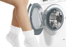 Стирка белых носков в стиральной машине