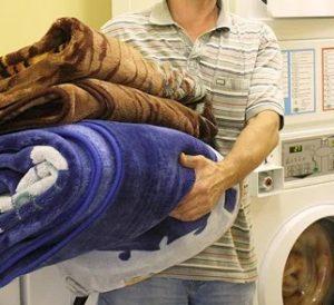Стирка большого пледа в стиральной машине