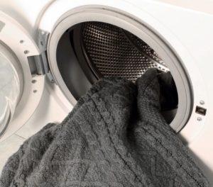 Стирка вязаного кардигана в стиральной машине