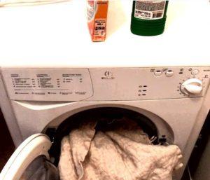 Стирка пледа из полиэстера в стиральной машине